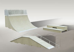 Gli skate park di cemento
